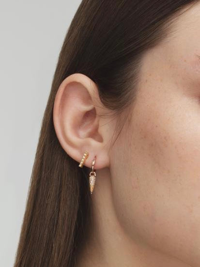Earrings Lobo Line Mini Rose Gold