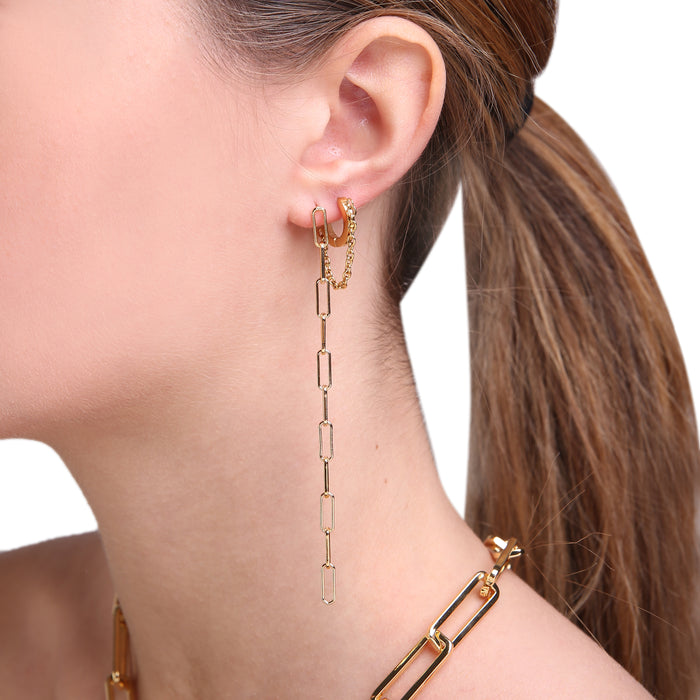 EARRING LINE BOLT Gold