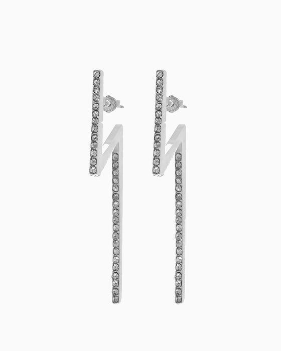 FLASH EARRINGS SILVER