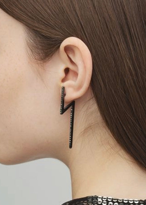 Flash Earrings Black