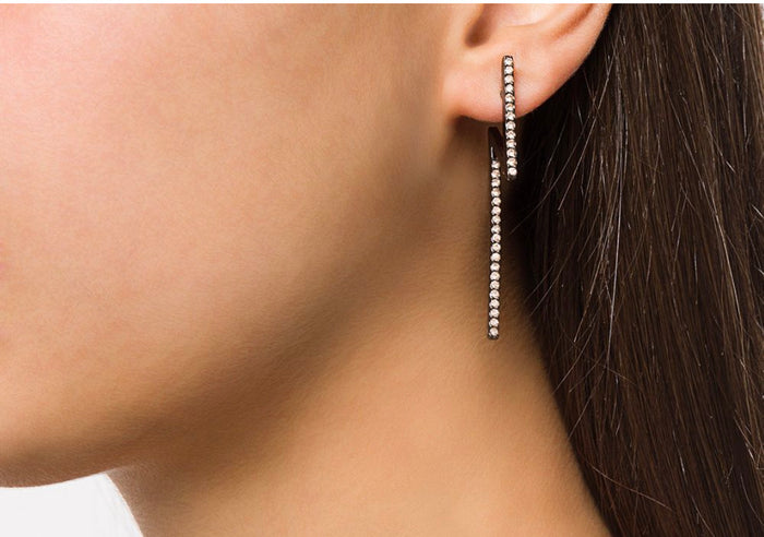 FLASH EARRINGS BLACK DIAMOND