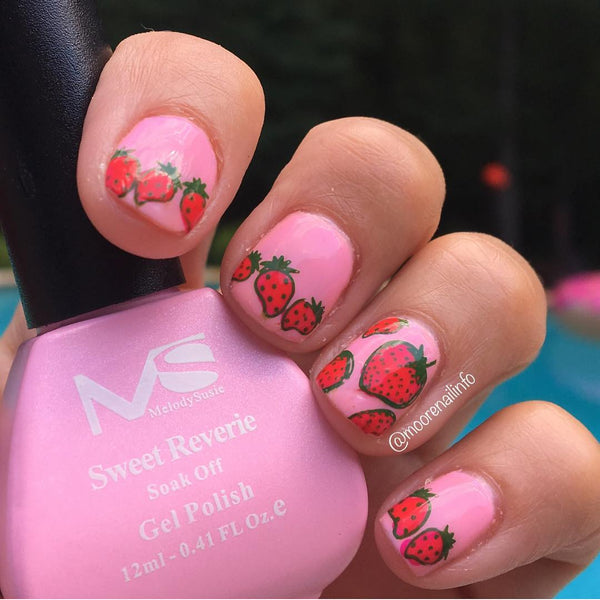 strawberry, fruit, nail polish, nail art, nail design, cute, fashion, style, trend, summer