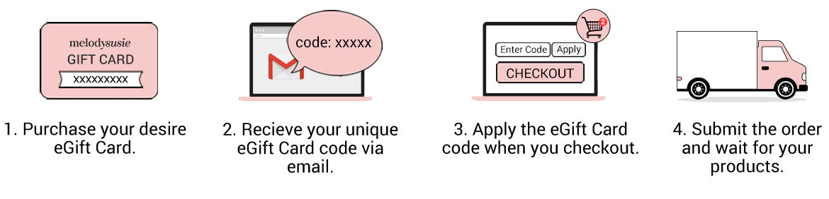 how to use melodysusie egift card