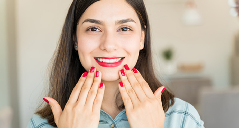 happy manicure with nail dust collector
