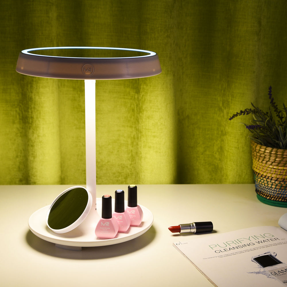2-in-1 Touch Control LED Makeup Mirror