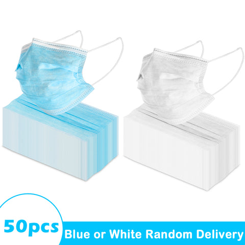 50 Pcs 3-Ply Disposable Medical Face Mask