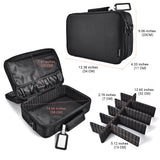 Waterproof Makeup Train Case-black