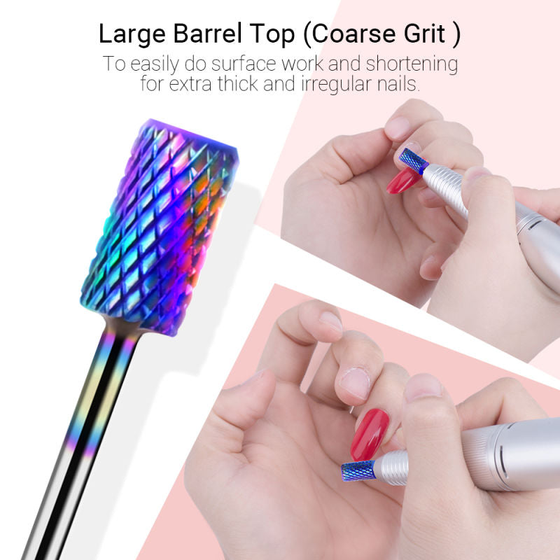 Carbide Ceramic Nail Drill Bits Set 7Pcs