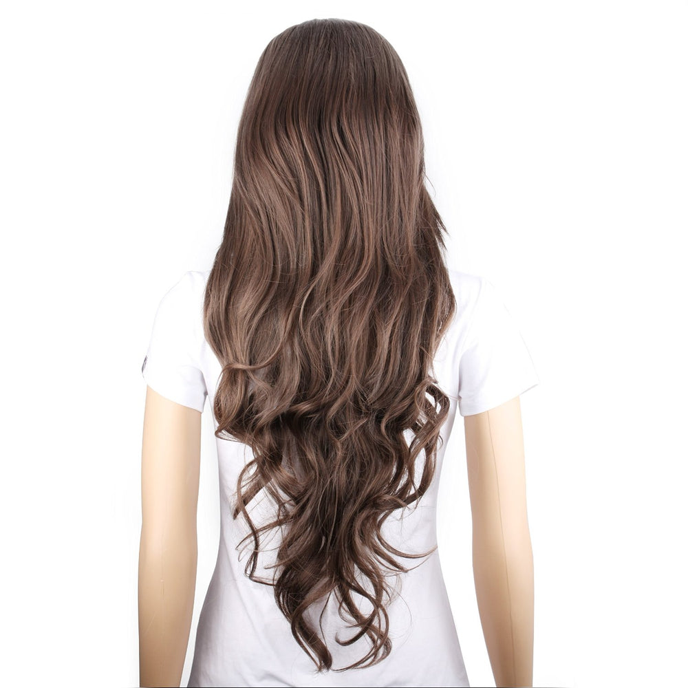 Long Light Brown Curly Wig - MS708