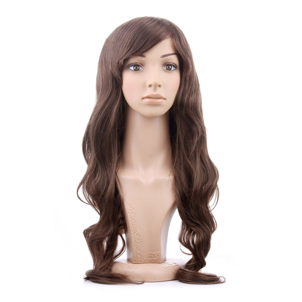 Long Light Brown Curly Wig