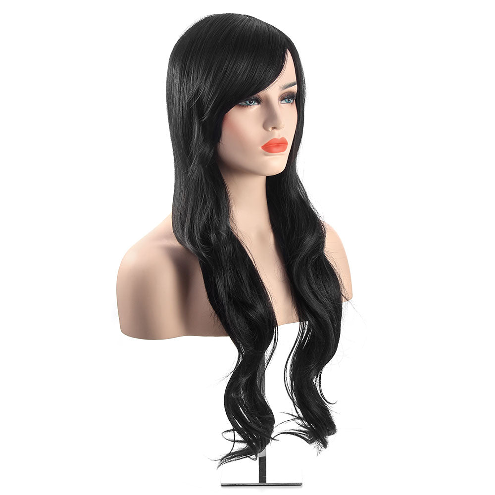 Long Black Curly Wig-MS712