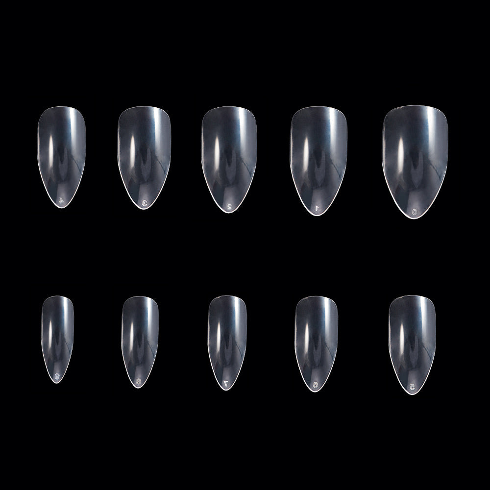 Clear Full Cover Acrylic False Nails