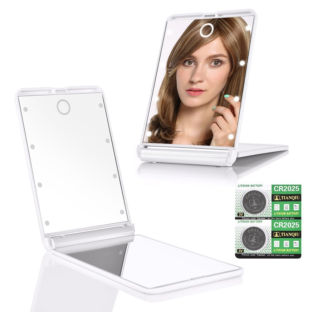 1x 2x Magnification Travel Makeup Mirror