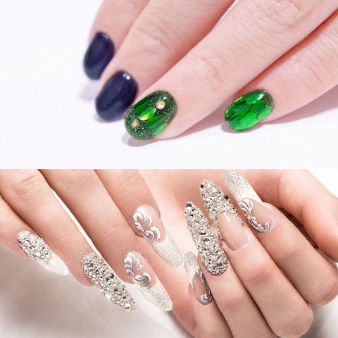 3-Box Multi-Shape Nail Rhinestones