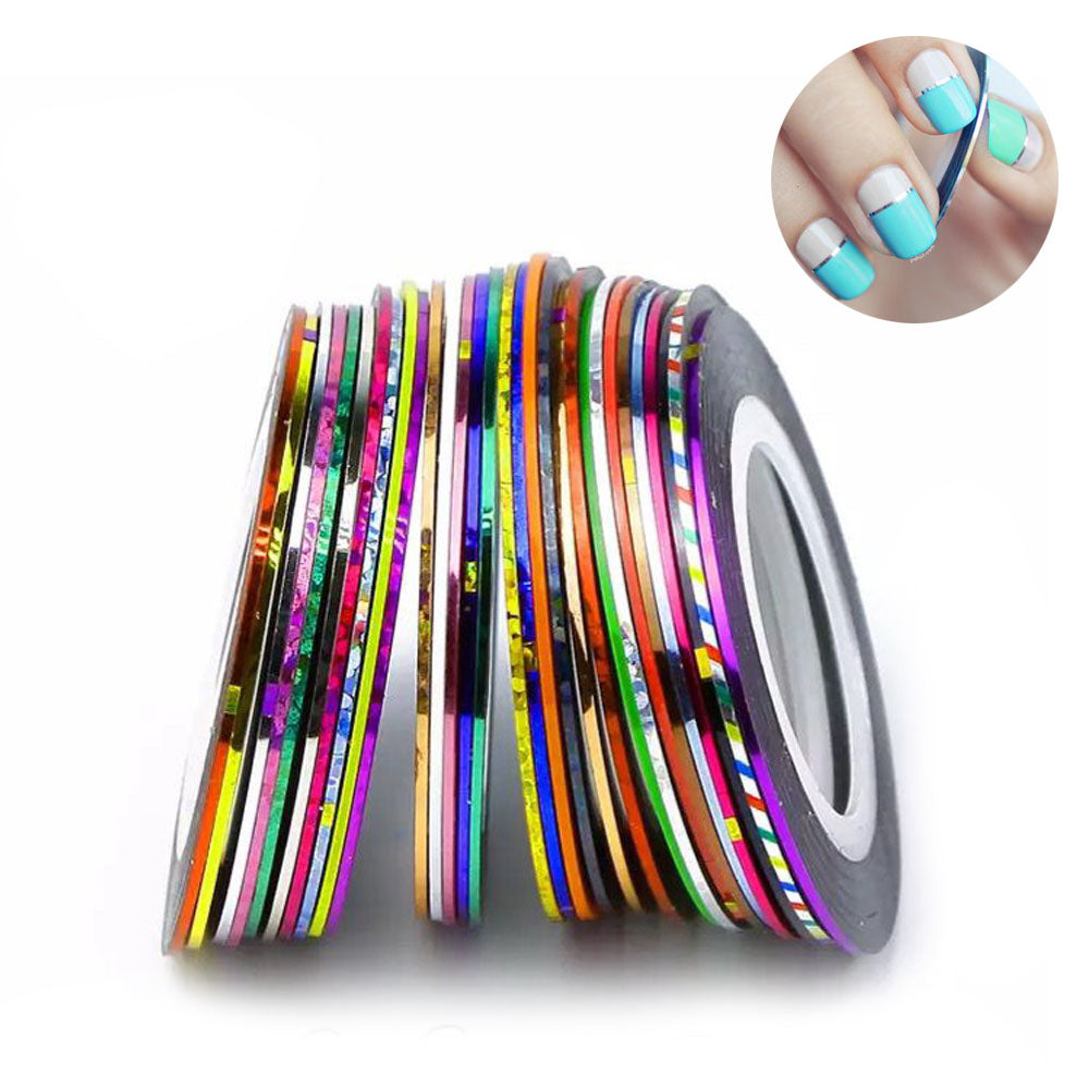 30 Roll Nail Art Striping Roll Tape Line