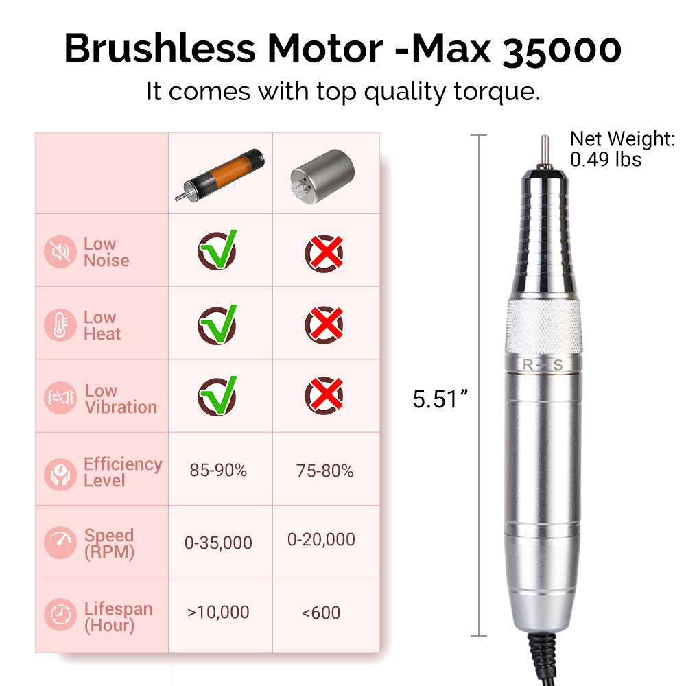 Rechargeable Nail Drill