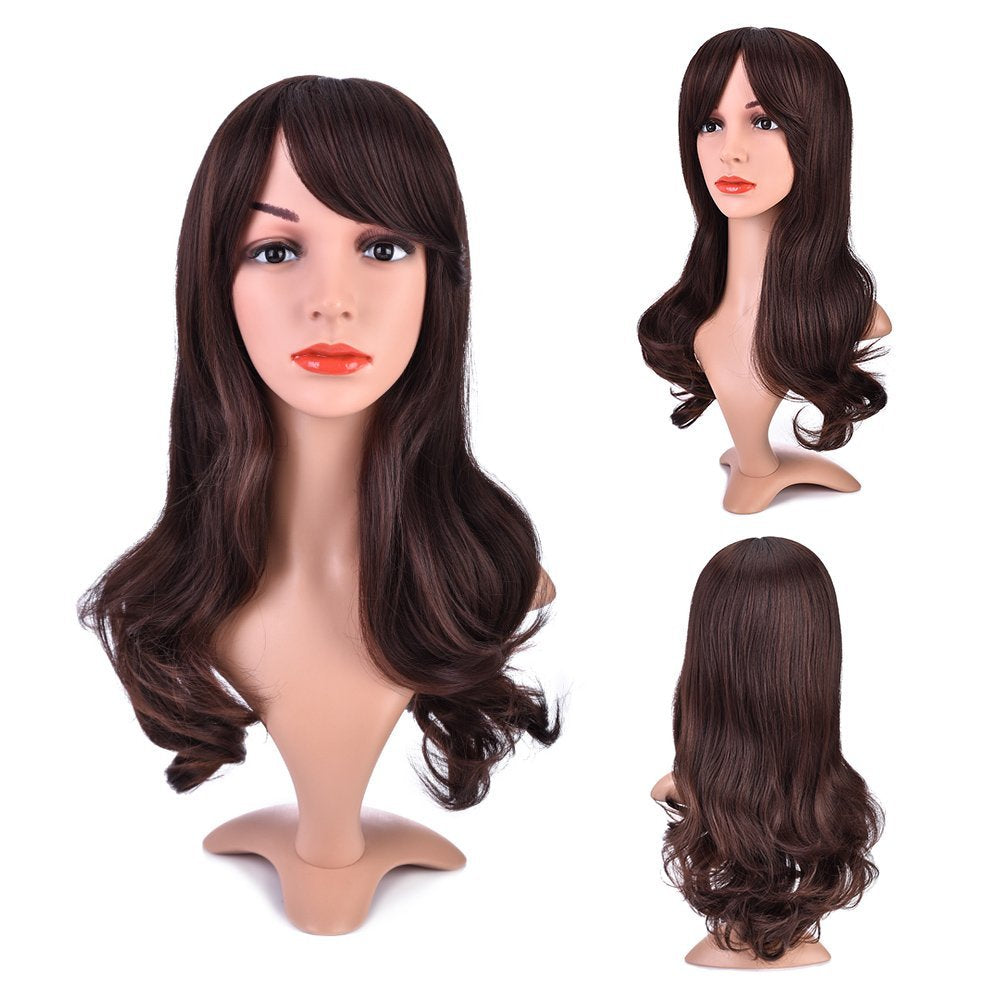 Long Curly Wig with Heat Resistant Fiber