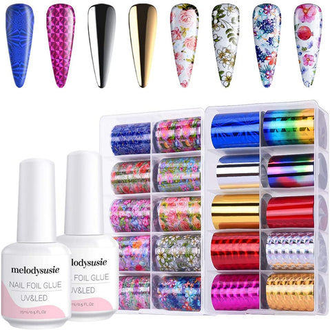 Foil Transfer Gel Nail Polish Kit