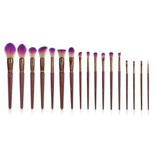 Amethyst Brush Set (17 Pcs vegan brush set)