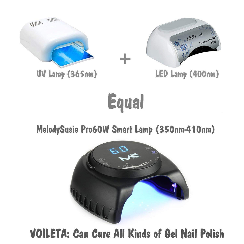 MelodySusie 60W UV LED Nail Lamp for All Gel Polish