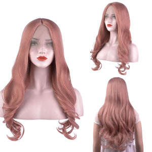 MelodySusie Orange Pink Lace Front Wig