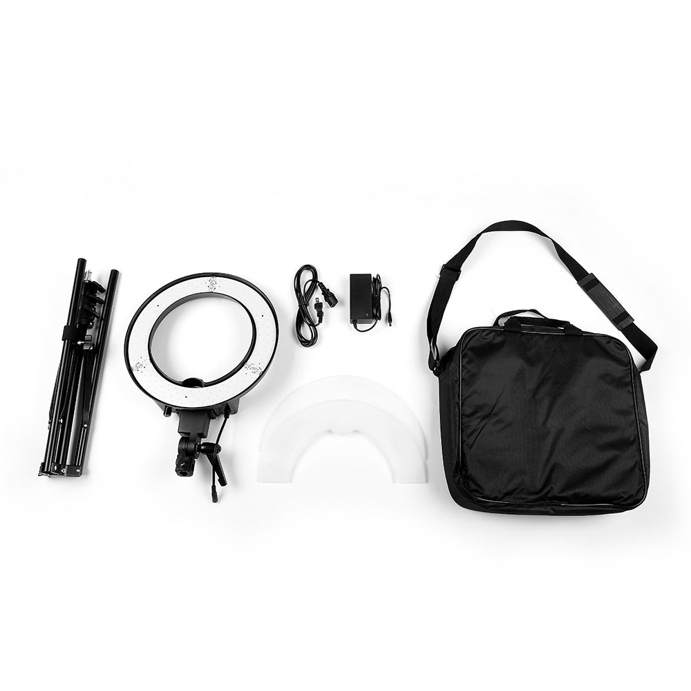 "Photography Set - 12"" LED Ring Lights and 2m Light Stands (US Standard)"