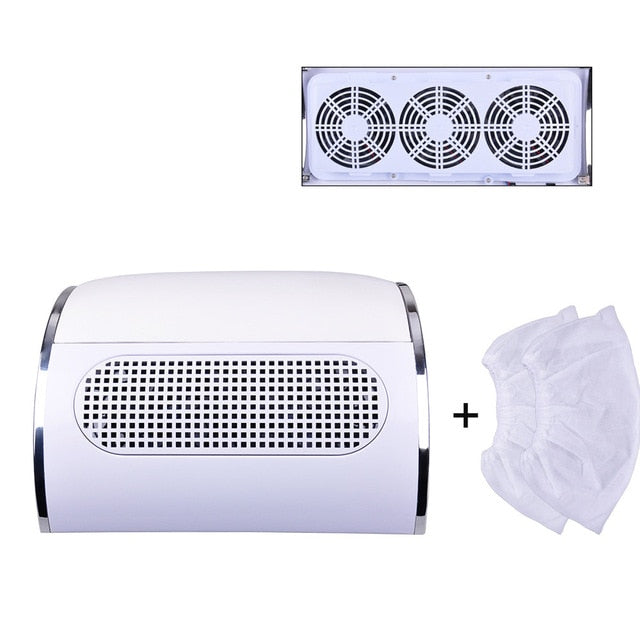 3 Fan Nail Dust Suction Collector