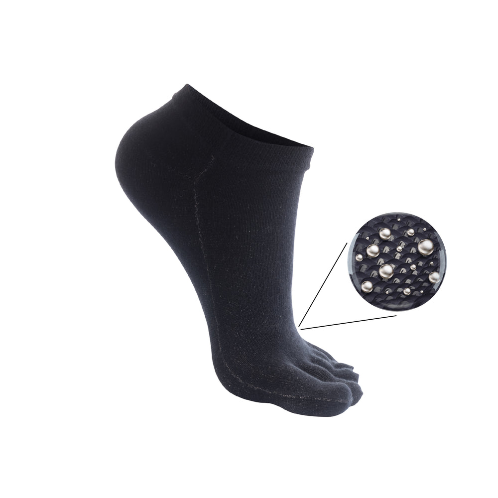 10% Pure Silver Low Cut (Ankle High) Toe Socks for Sensitive Foots