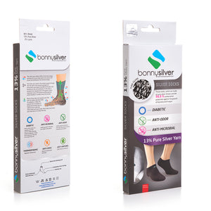 13% Pure Silver - Low Cut (Ankle) Socks For Active Lifestyles