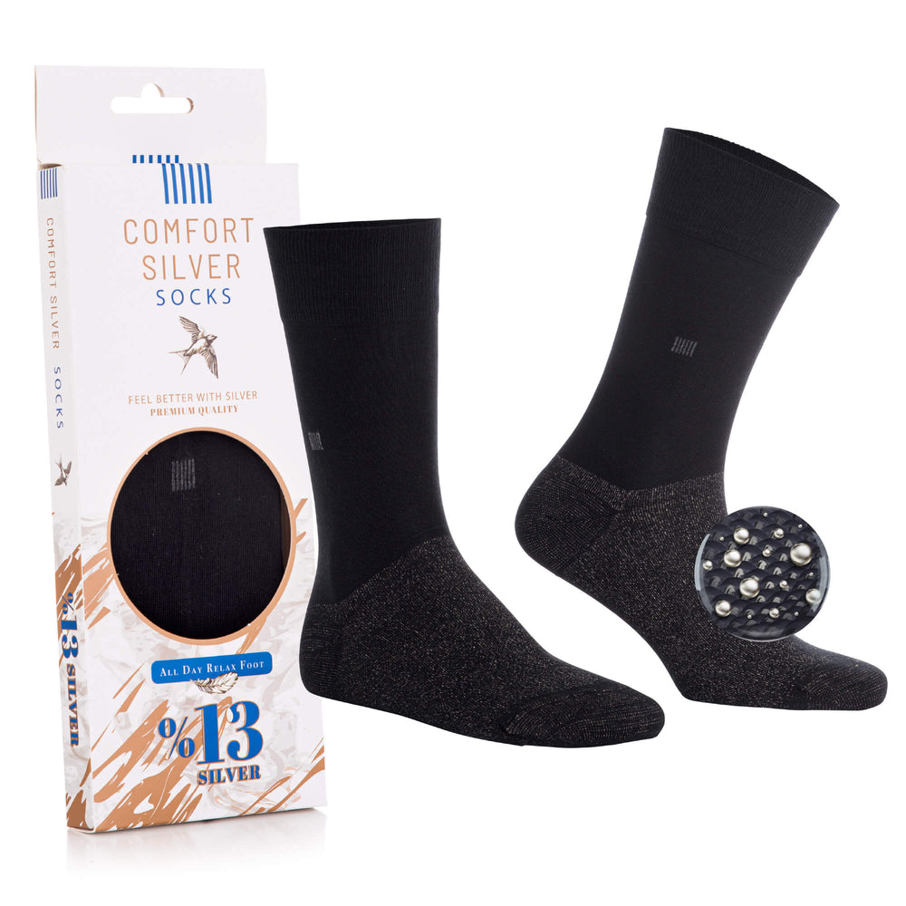13% Pure Silver Daily Socks - Comfort Silver