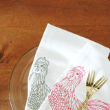 Flour Sack Tea Towel – Chickens