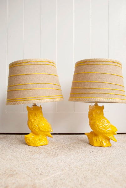 Hoot Bros Ceramic Lamps