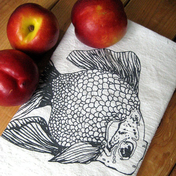 Flour Sack Tea Towel – Goldfish