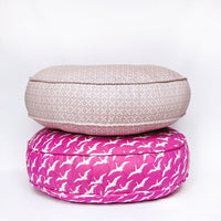 Cerise Round Floor Pillow