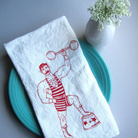 Flour Sack Tea Towel – Strong Man