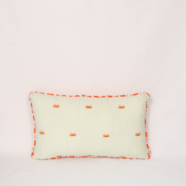 Seersucker Throw Pillow (Crabs)
