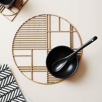 Deco Large Round Bamboo Trivet