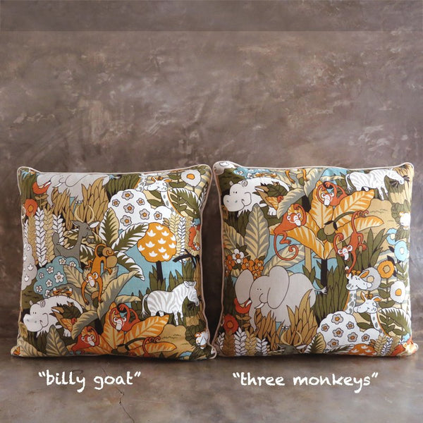 Jungle in the House Throw Pillow