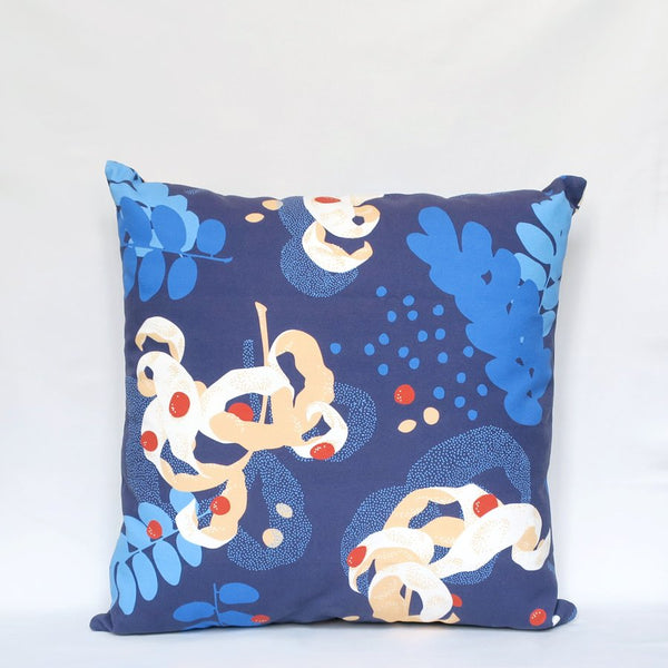 SAGA Throw Pillow (Blue)