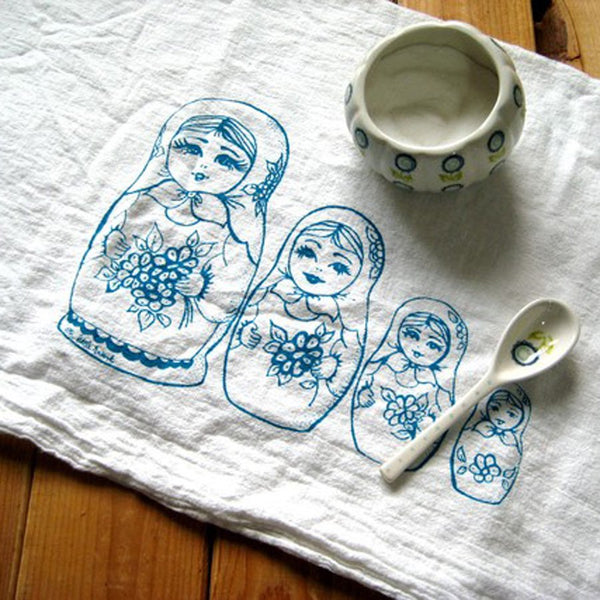 Flour Sack Tea Towel – Nesting Dolls