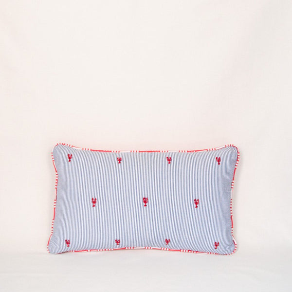 Seersucker Throw Pillow (Lobsters)