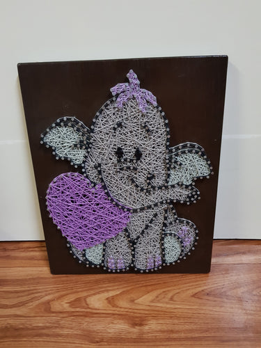 Baby Purple Elephant Nursery Decor - Shazz Art