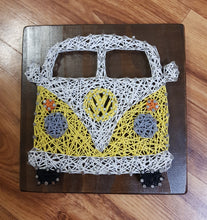 Load image into Gallery viewer, Volkswagen Combi String Art Wall Art Timber Sign Home Decor - Shazz Art