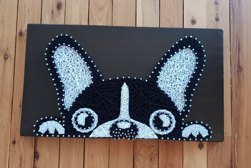 Peeking Pug Dog String Art - Shazz Art
