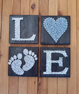 Set of 4 Baby Boy String Art - Shazz Art