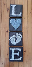 Load image into Gallery viewer, Set of 4 Baby Boy String Art - Shazz Art