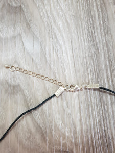 Rose Gold and Black Necklace - Shazz Art