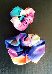 Sateen Geo Mum and Baby Scrunchies - Shazz Art