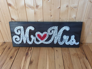 Mr and Mrs Sign - Shazz Art