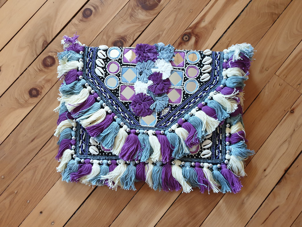 Purple Tassel Purse - Shazz Art